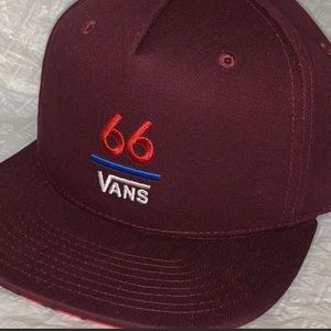 Ⓜ️‼️66 VANS‼️EMBROIDERED FRONT DESIGN MAROON NEW